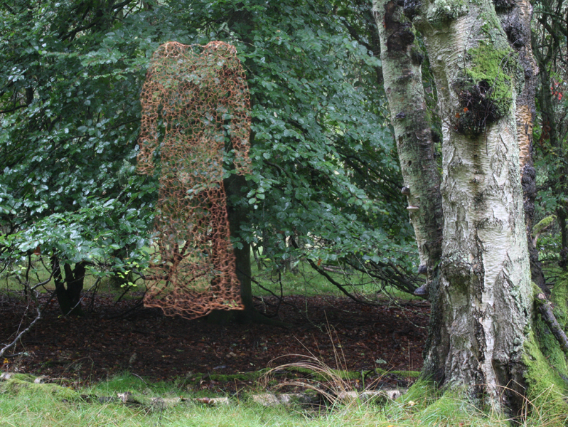 environmental sculpture moss dress