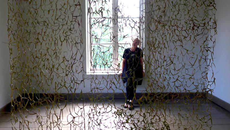 Caroline Dear - Vassen Susar Exhibition Finland - reed veil