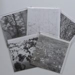 Series of five black and white cards