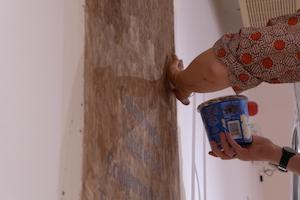 Caroline Dear installing peat - Timespan
